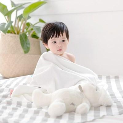 밤부 아기목욕타올 - 화이트 (신생아블랭킷 비치타올 아기수건)