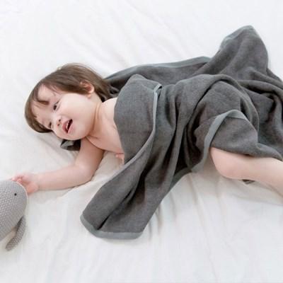 밤부 아기목욕타올 - 차콜 (신생아블랭킷 비치타올 아기수건)