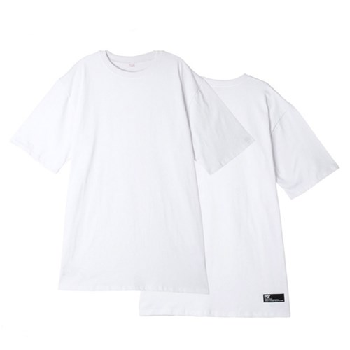 [UNISEX]스탠다드 레이어드 롱 티셔츠(White)