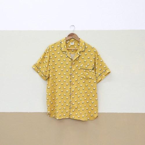 더시원한 여름잠옷 - 튤립셔츠 [머스터드]