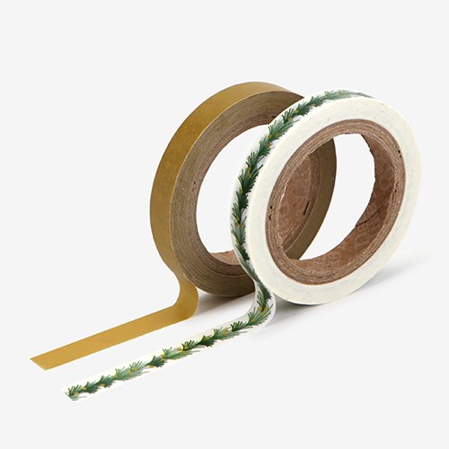 Masking tape slim 2p - 04 Tree garland