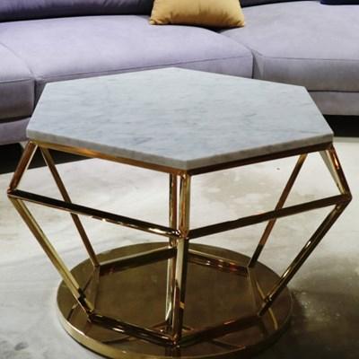 마블 천연 대리석 갤럭시 다이아몬드 문 화이트 거실 쇼파 테이블