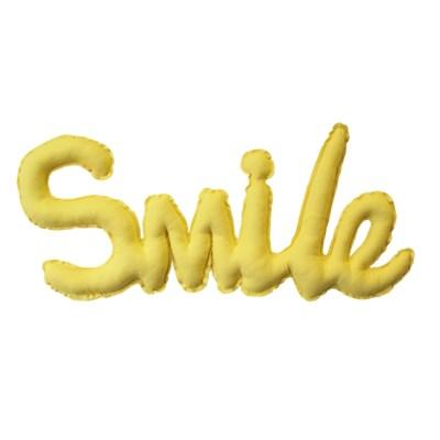 {린넨스마일가랜드}Linen SMILE Cushion Garland_옐로우