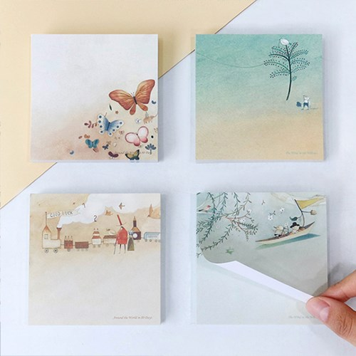 버드나무&세계일주 메모지