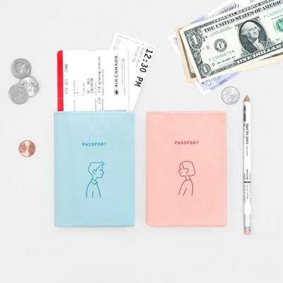 지유 여권케이스 - 커플 여권케이스
