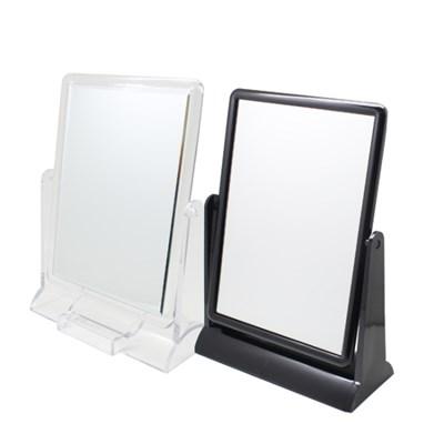 빠띠라인 탁상용 사각거울 ST-474 투명 블랙