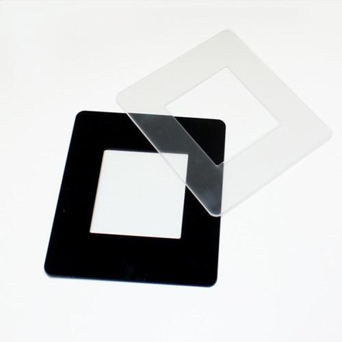 빠띠라인 아크릴 스위치 커버 대형 투명 블랙