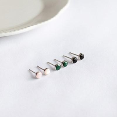 실버 미니 천연원석 귀걸이 [92.5 silver]