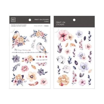 [MD추천]문지르면 꽃이되는 판박이 다꾸스티커!