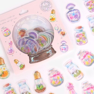 [금박] 향기로운 향수병 요술램프 스티커팩