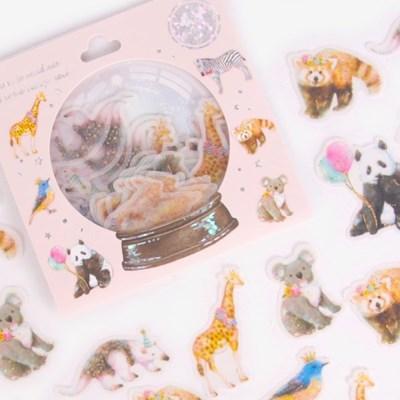 [금박] 동물 친구들 요술램프 스티커팩