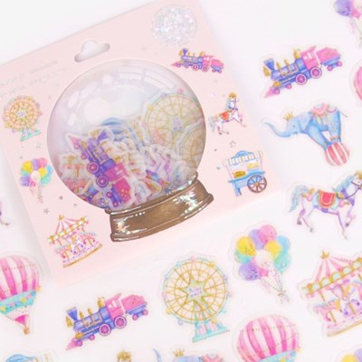[금박] 즐거운 놀이동산 요술램프 스티커팩