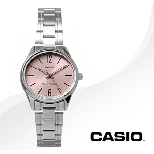 카시오 CASIO LTP-V005D-4B 여성용 메탈밴드 아날로그시계
