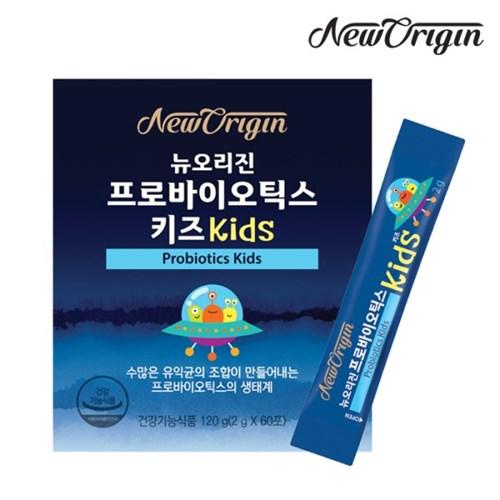 [유한양행] 뉴오리진 프로바이오틱스 키즈KIDS 2g x 60포_유산균