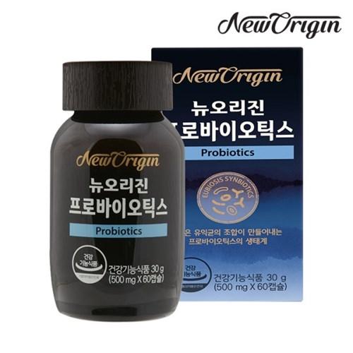 [유한양행] 뉴오리진 프로바이오틱스 60캡슐_유산균