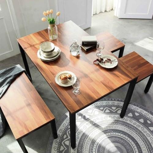 테라스 멀바우 스틸 1200 식탁/테이블/책상