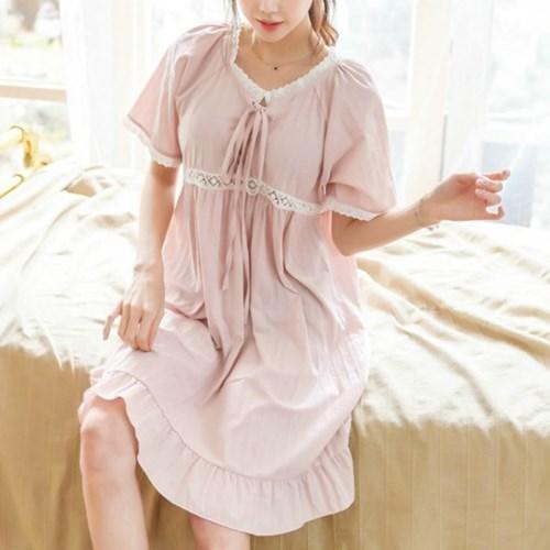 [안녕잘자] 당일발송 코르셋 원피스잠옷