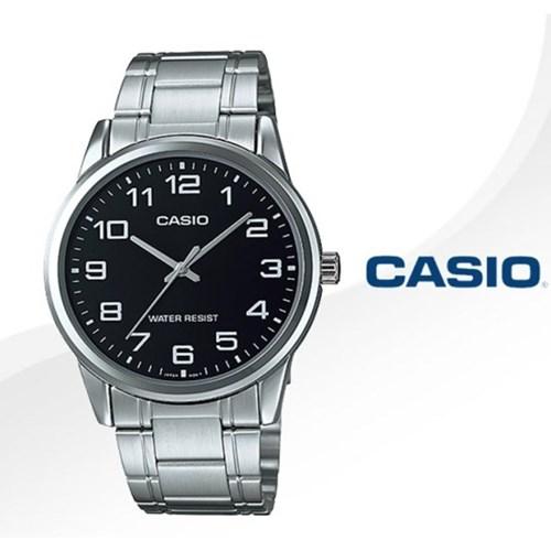 카시오 CASIO MTP-V001D-1B 남성용 메탈밴드 아날로그시계