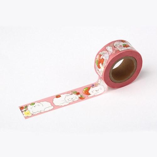 [또자] 딸기고양이 마스킹테이프