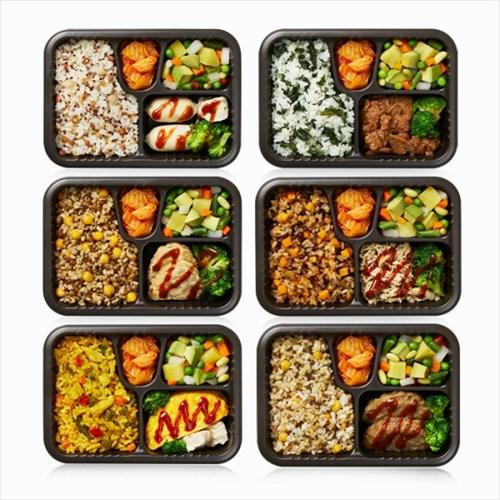 건강한식단 밥심도시락 버라이어티 6팩