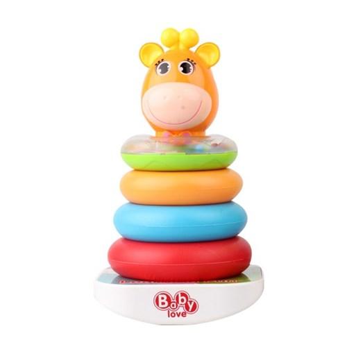 (올리자토이) 오뚜기 기린 링끼우기 장난감