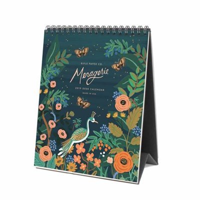 DESK CALENDAR - 2019 MIDNIGHT MENAGERIE