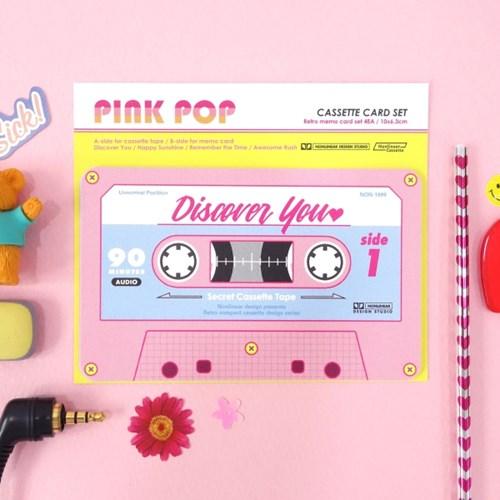 Cassette Card Set_Pink Pop
