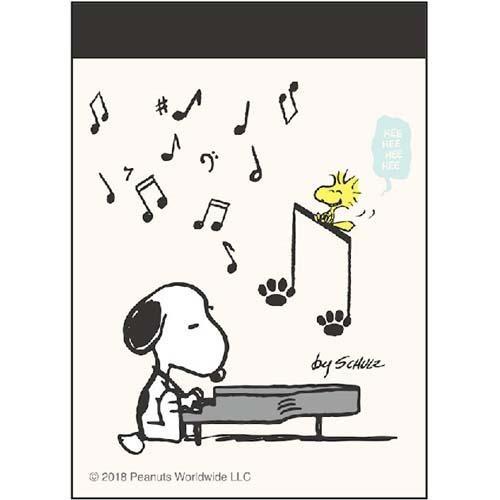 스누피 미니 메모_피아노