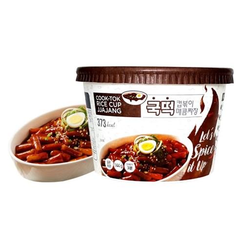 [추억의 국민학교 떡볶이] 국떡 컵볶이 매콤짜장