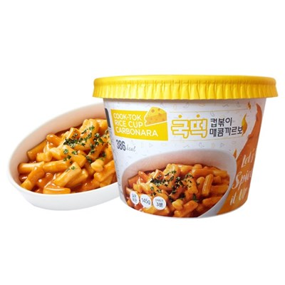 [추억의 국민학교 떡볶이] 국떡 컵볶이 매콤까르보