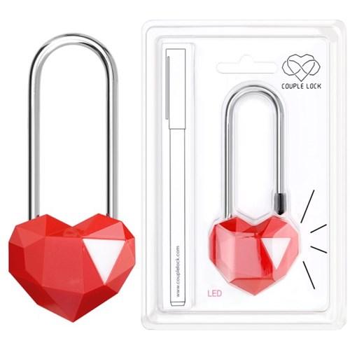 사랑의자물쇠 커플락 CL-2 단품페키지 레드