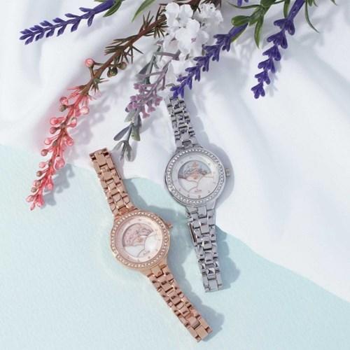 [클루] 로맨틱 어텀 들꽃 문페이즈 시계 (2종 택1) (CL2G18903M)