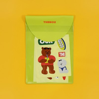 VINTAGE STICKER_TEDDY BEAR VER.2