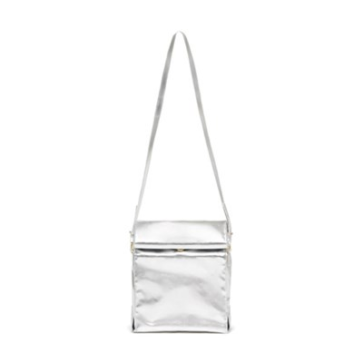 WHAT'S FOR LUNCH CROSSBODY BAG - METALLIC SILVER(런치백)
