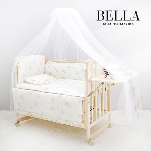 벨라 원목 범퍼 아기침대