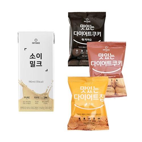 국산콩 무첨가 두유 소이밀크 16팩+다이어트 스낵 1박스