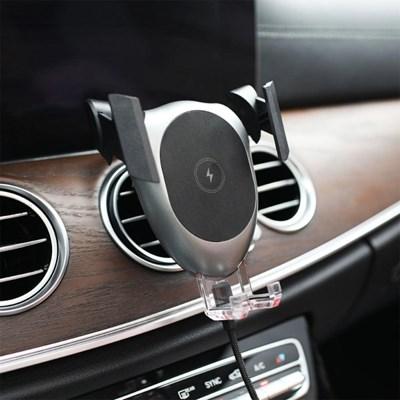 [무아스] 고속 차량용 무선충전 거치대 G1 (시거잭 포함)