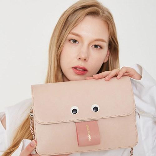 커스터마이징 메롱얼굴 핑크 가방