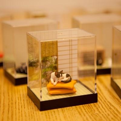 미니어쳐 고양이, 장식,소품,선물, 일본산