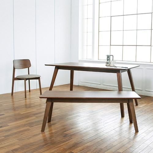 타벤 1485 테이블_딥브라운오크(벤치/의자선택)