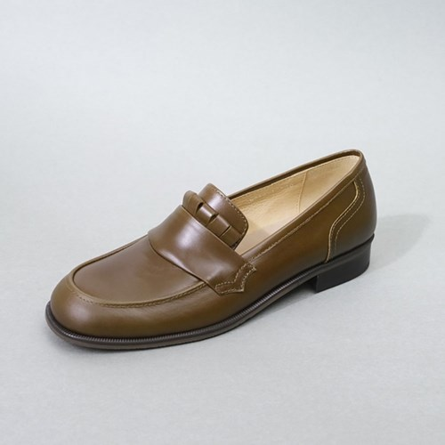흰_HS1811 Olive Green Loafer