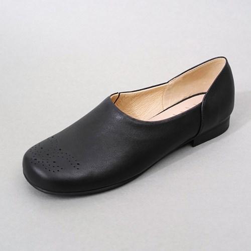 흰 Simple Brogue Shoes_V.Black