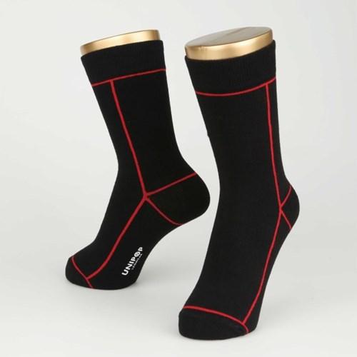 LINE SOCKS-BLACK (FOR WOMEN)
