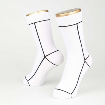 LINE SOCKS-WHITE (FOR WOMEN)