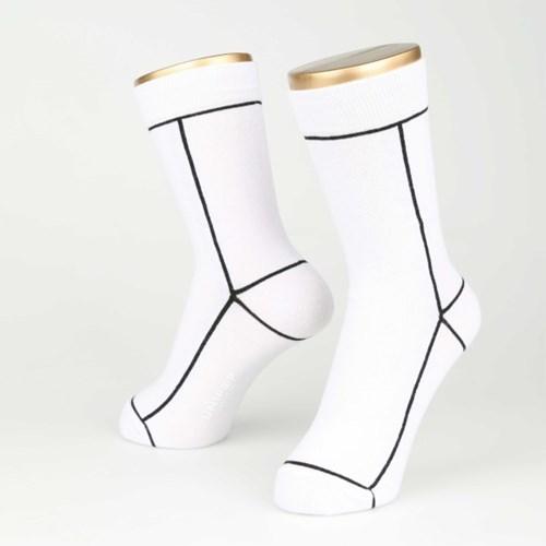 LINE SOCKS-WHITE (FOR WOMEN)