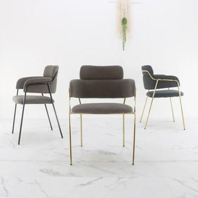 지엠퍼니처 투블럭 골드프레임 카페체어 인테리어 디자인의자