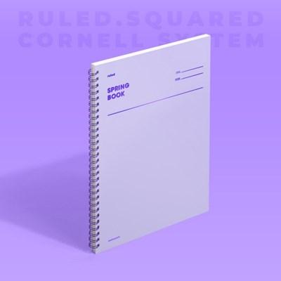 스프링북 - 바이올렛 (룰드/스퀘어드/코넬시스템) 1EA