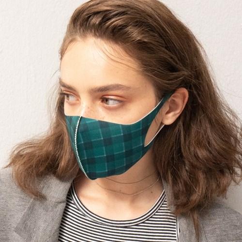 [르마스카] 패션 마스크 - 플레이드그린