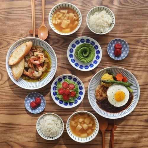 일본 쿠모 2인 식기세트 10p