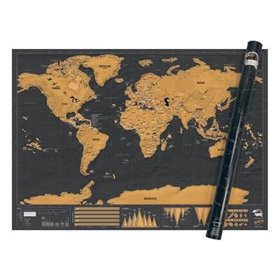 [럭키스] 영국 정품 스크래치 맵 세계지도 디럭스 XL_(1449363)